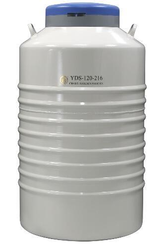 成都金凤配多层方提筒的液氮生物容器YDS-120-216